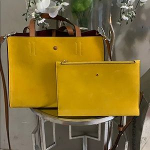 🌻SUEDE KATE SPADE BAG AND WRISTLET🌻